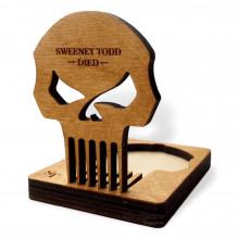 Гребень для бороды Barber Crew Sweeney Todd ЧЕРЕП