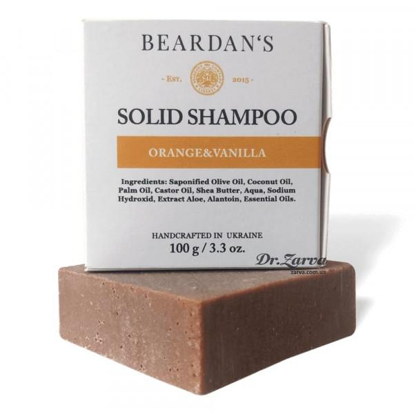 Твердый шампунь Beardan's Solid Shampoo ORANGE & VANILLA