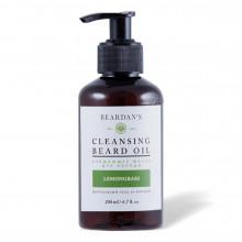 Гидрофильное масло для бороды очищающее Beardan's LEMONGRASS 200 мл