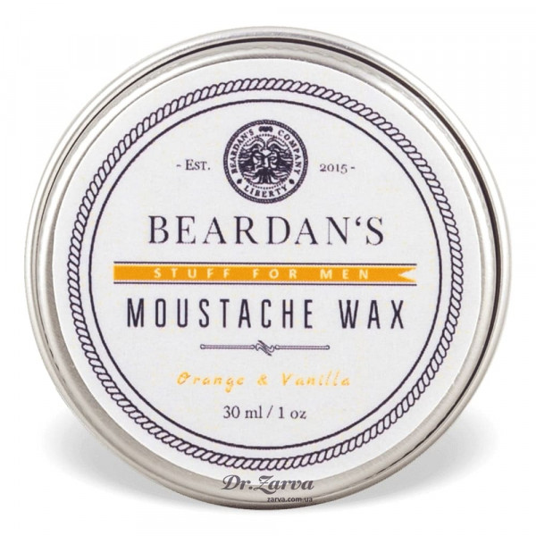 Воск для усов Beardan's ORANGE & VANILLA 30 мл