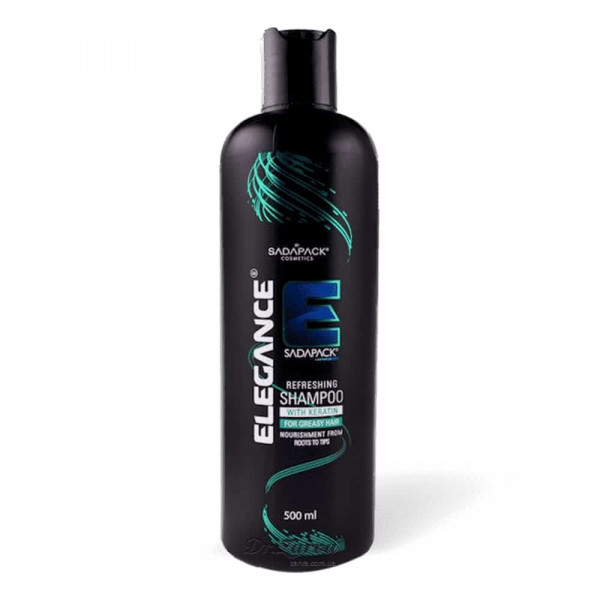 Шампунь Elegance KERATIN REFRESHING (зеленый) для жирных волос 500 мл