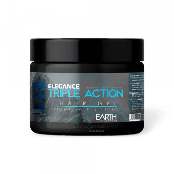 Гель для укладання волосся 3-ї дії Elegance TRIPLE ACTION GEL 250 мл