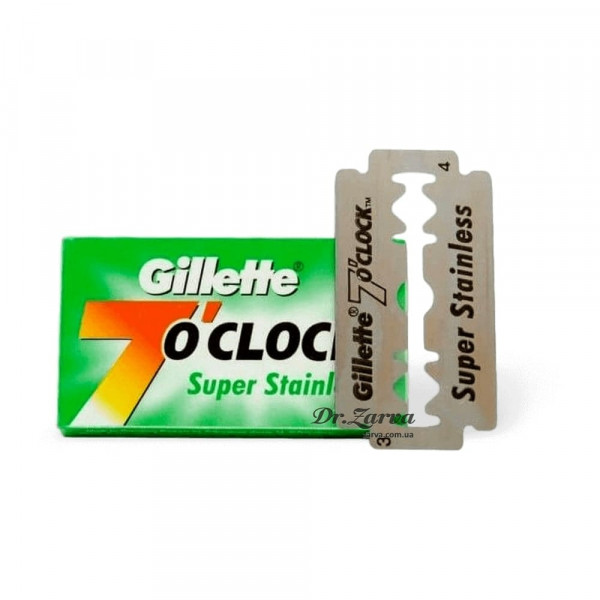 Лезвия Gillette 7 O'clock SUPER STAINLESS Green 5 шт
