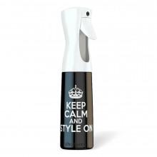 Розпилювач для води Stylist Spray Bottle KEEP CALM AND STYLE 300 мл