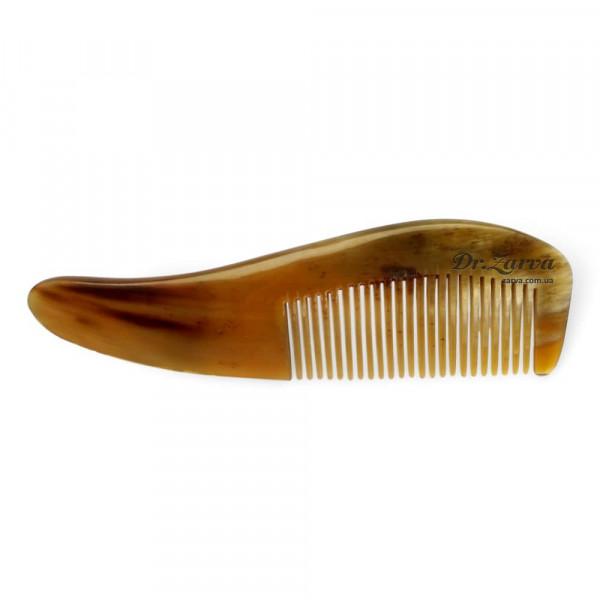 Гребень с узкими зубьями для волос и бороды ИЗ НАТУРАЛЬНОГО РОГА