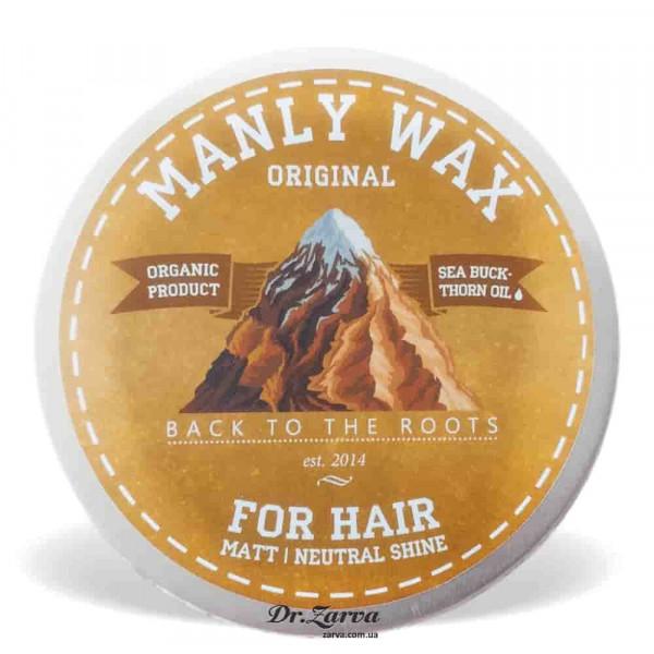 Віск для укладання волосся Manly Wax ORIGINAL средняя фіксація 100 мл