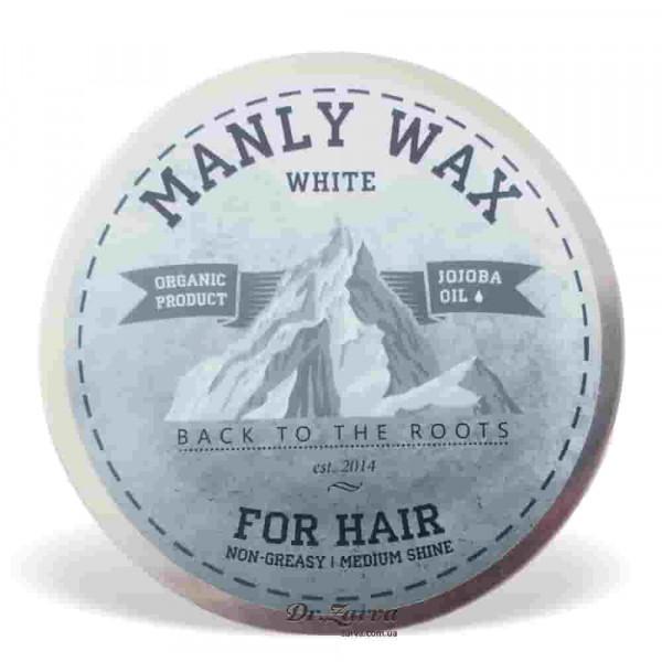 Віск для укладання волосся Manly Wax WHITE сильної фіксації 100 мл