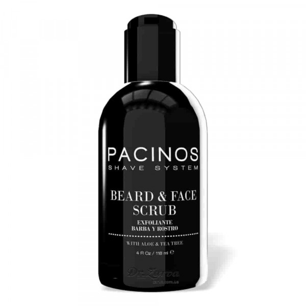 Скраб для лица и бороды Pacinos BEARD AND FACE SCRUB 118 мл