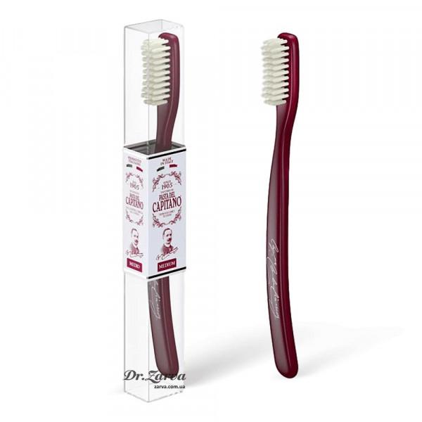 Зубная щетка Pasta del Capitano Toothbrush серия 1905 средняя жесткость (красная)