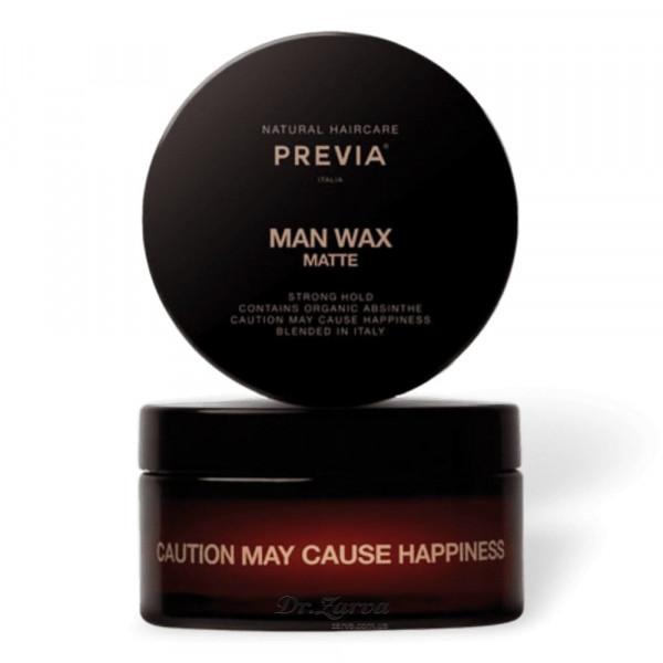 Віск для укладання волосся Previa MAN WAX MATTE 100 мл