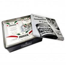 Набор для бритья Proraso Vintage Selection TOCCASANA для чувствительной кожи в металлической коробке