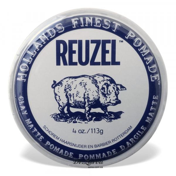 Глина для укладки волос Reuzel CLAY MATTE Pomade Strong Hold 113 мл