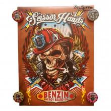 Плакат Scissor Hands BENZIN 80*60 см