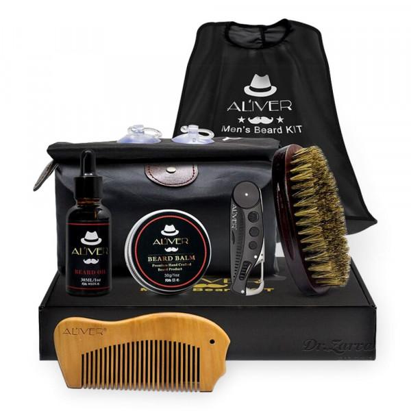 Набор по уходу за бородой Aliver Global Beard Set из 7-ми предметов