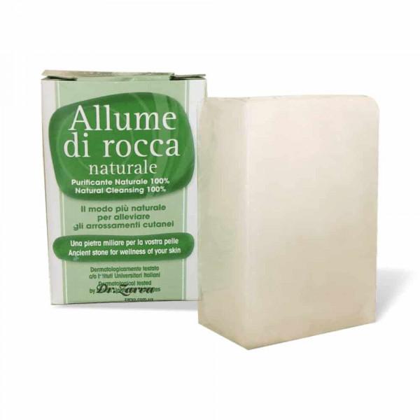 Камінь від порізів Allume di Rocca (алуніт) NATURALE  100 г