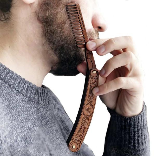 Гребень для бороды и усов Arhaika VALKNUT Beard Comb