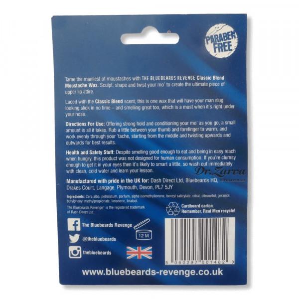 Воск для усов The Bluebeards Revenge CLASSIC BLEND Moustache Wax 20 мл