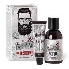 Окрашивающий шампунь для бороды и волос на голове BeardBurys Shampoo Сolor - черный (2N) 75 мл