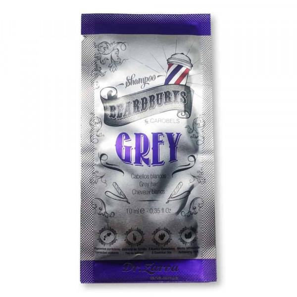 Пробник шампуня Beardburys GREY для светлых и седых волос 10 мл