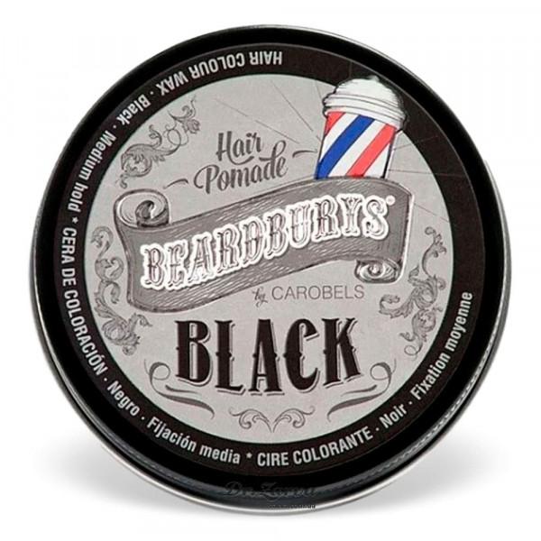 Віск для укладання волосся і тонування сивини Beardburys BLACK Color Hair Pomade 100 мл