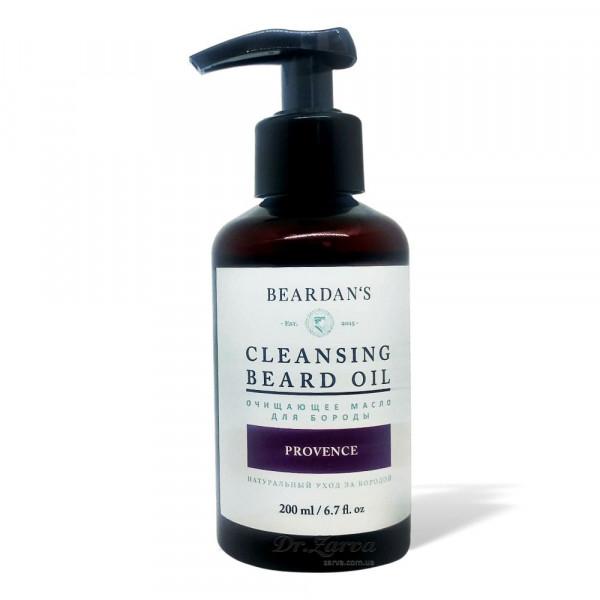Гидрофильное масло для бороды очищающее Beardan's PROVENCE 200 мл