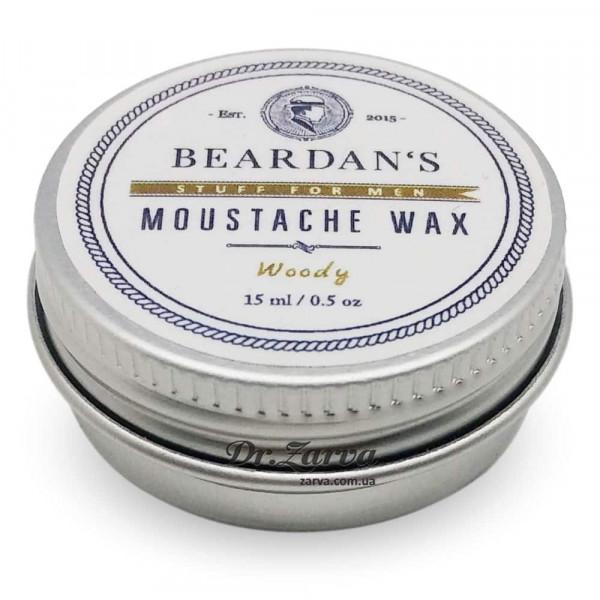 Воск для усов Beardan's WOODY 15 мл