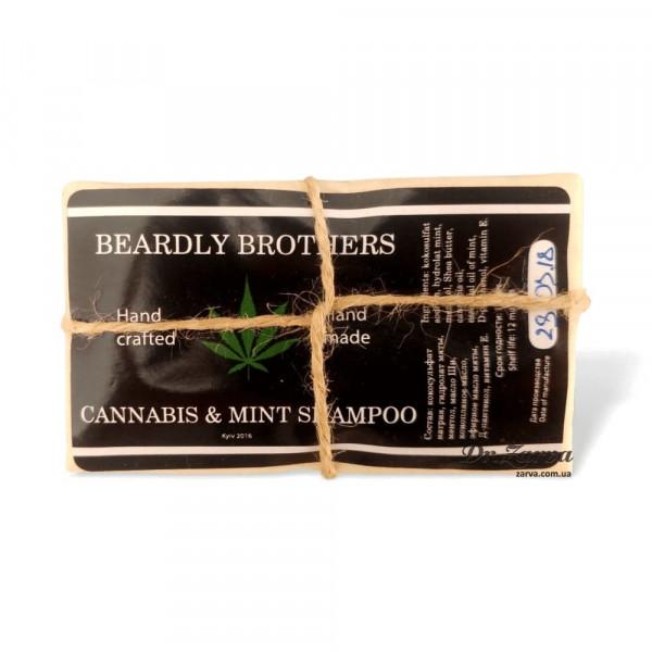 Твердый шампунь CANNABIS & MINT Beardly Brothers 70 г