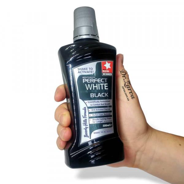 Ополаскиватель для полости рта Beverly Hills Formula PERFECT WHITE BLACK CHARCOAL 500 мл