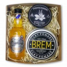 Набір для догляду за волоссям, укладання і догляду за тілом Brem Manly