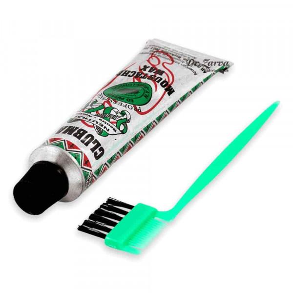 Віск для вусів Clubman Pinaud з щіточкою Moustache Wax NEUTRAL прозорий 14 г