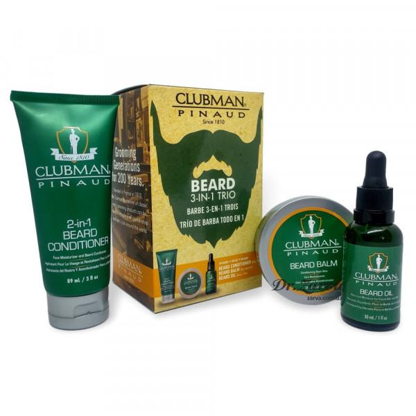 Набор для ухода за бородой и усами Clubman Pinaud BEARD 3-IN-1 TRIO