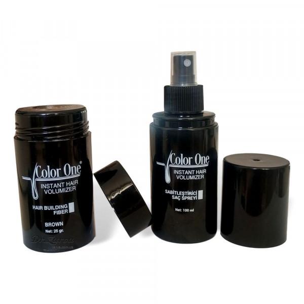 Набор для редеющих волос и камуфляжа седины Color One Hair Powder (коричневый)