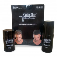 Набор для редеющих волос и камуфляжа седины Color One Hair Powder (черный)