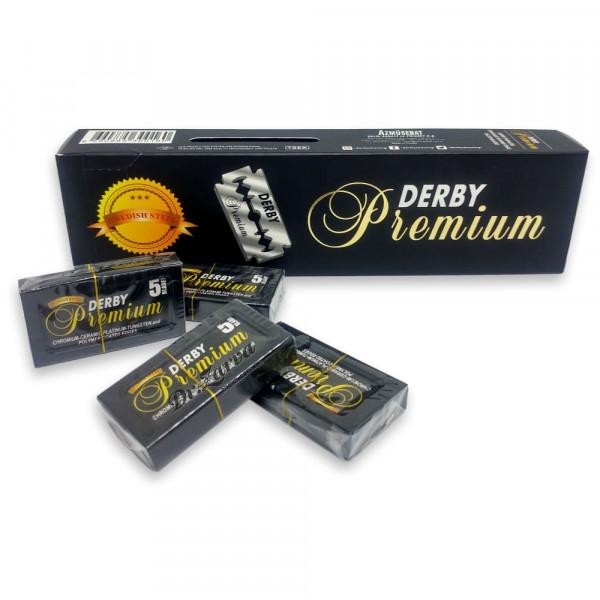 Лезвия Derby BLACK PREMIUM 100 шт  (20 пачек по 5 лезвий)