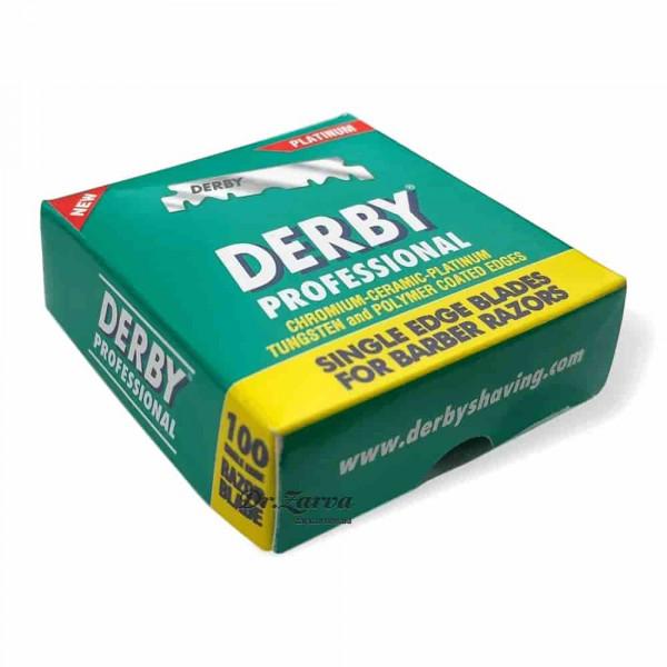 Лезвия для опасных бритв (шаветт) Derby PLATINUM PROFESSIONAL половинки 100 шт