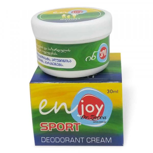 Еко дезодорант крем Enjoy SPORT в баночці 30 мл