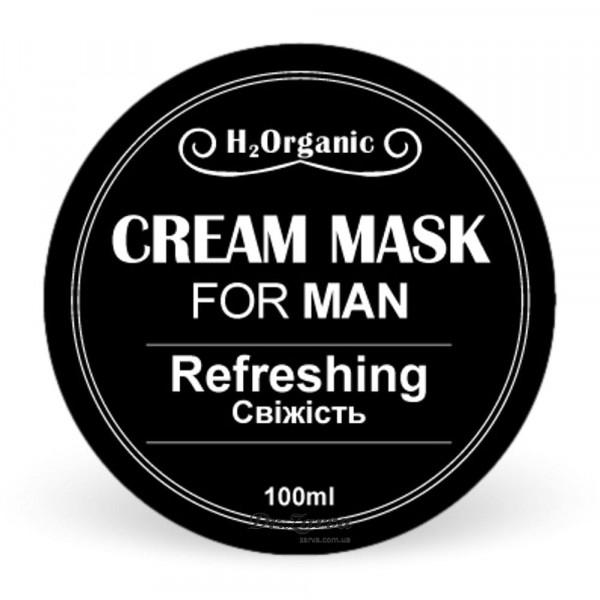 Крем-маска для лица H2Organic REFRESHING For Man (тонизирование) 100 мл