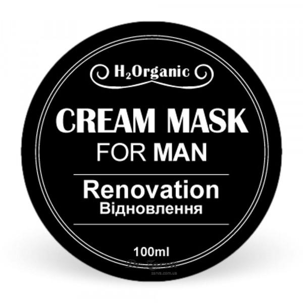 Крем-маска для лица H2Organic RENOVATION For Man (восстановление) 100 мл