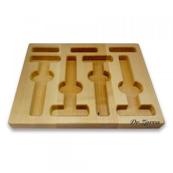 Подставка (ложемент) для хранения 4-х Т-образных бритв HurryBant