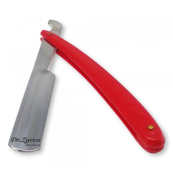 Опасная бритва со сменными лезвиями (шаветта) красная