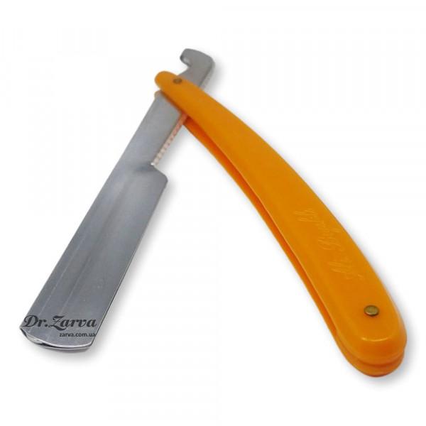 Опасная бритва со сменными лезвиями (шаветта) оранжевая