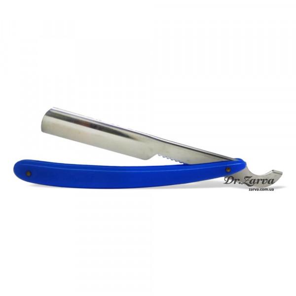 Опасная бритва со сменными лезвиями (шаветта) синяя