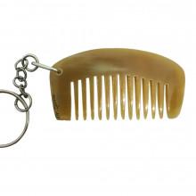Гребень для бороды брелок из рога