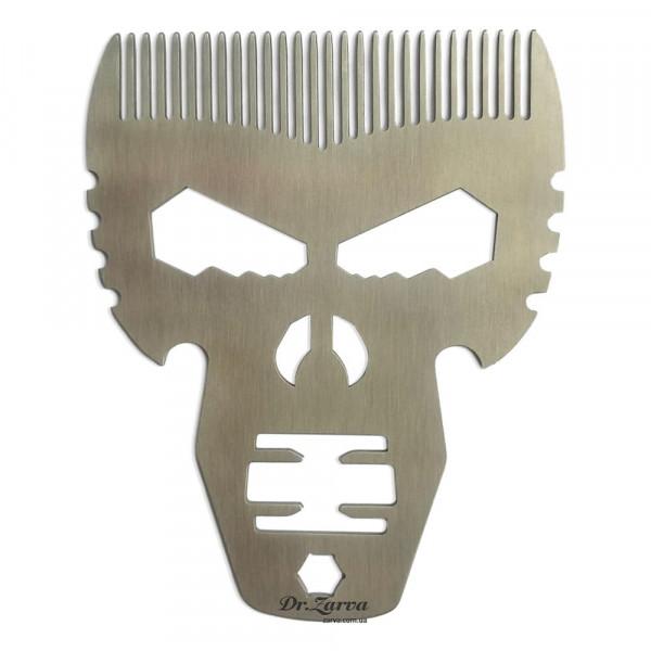 Гребень для бороды и волос МУЛЬТИТУЛ из нержавеющей стали