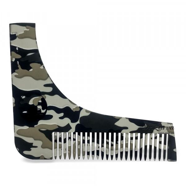 Расческа для моделирования бороды Shaping Shaving Comb MILITARY
