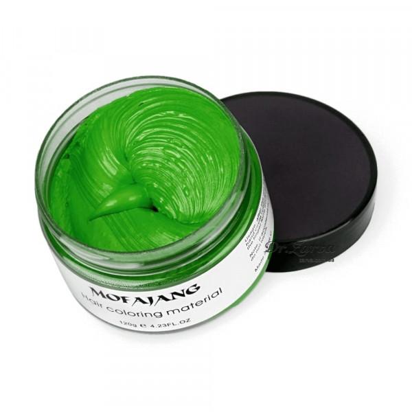 Окрашивающий крем воск для волос зеленый GREEN Mofajang 120 мл