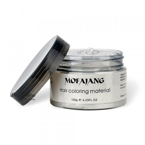 Забарвлючий крем віск для волосся білий WHITE Mofajang 120 мл