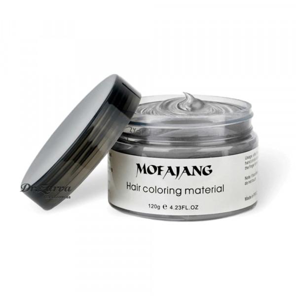 Забарвлюючий крем віск для волосся срібний SILVER ASH Mofajang 120 мл
