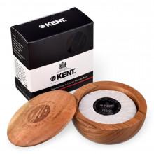 Мило для гоління Kent SB6 в дерев'яній чаші DARK OAK SHAVING BOWL WITH LUXURY SHAVING SOAP 120 г