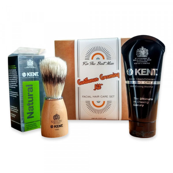 Набор для бритья с помазком и кремом для бритья Kent Brushes